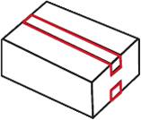 Deckel-Bodenverschluss Packband